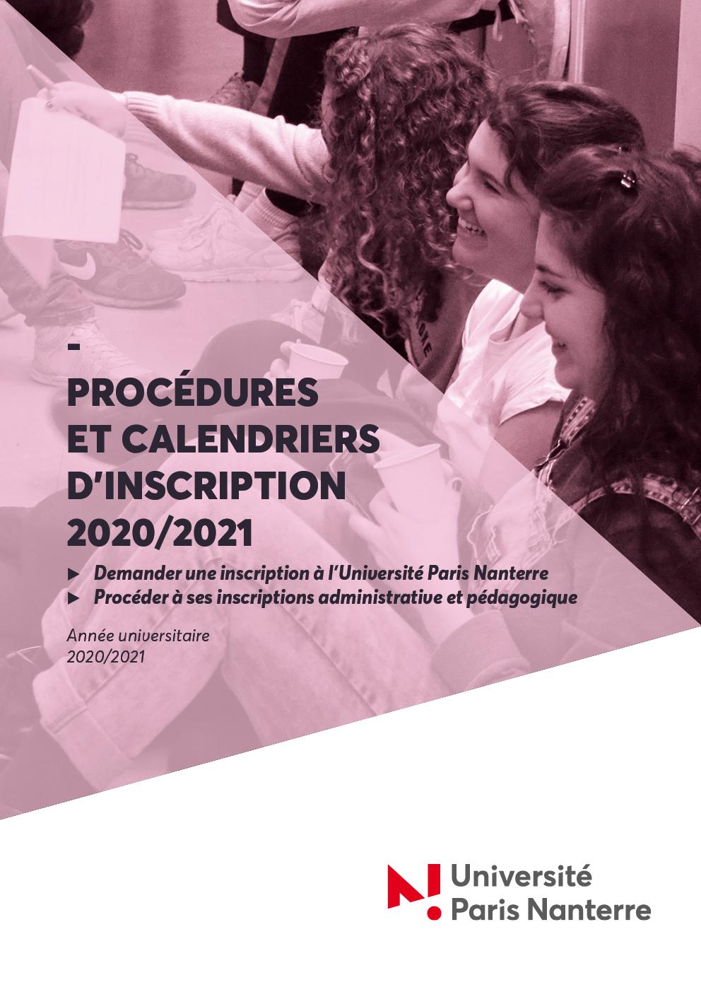 DES   Calendriers et procédures d'inscriptions 2020/2021
